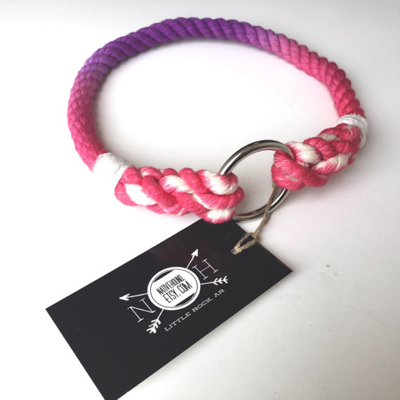 Свадьба - Dog Collar, Ombre dyed, Ombre collar, Dyed Rope, Rope Dog Collar, Nautical Dog Collar, Multi colored dye, tie-dye