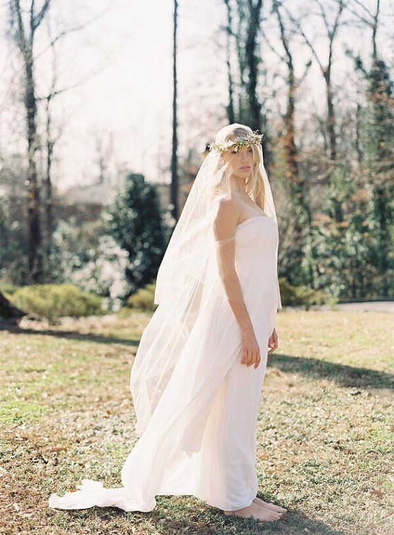 Mariage - Heavenly Drop Veil In A Soft Delicate Tulle