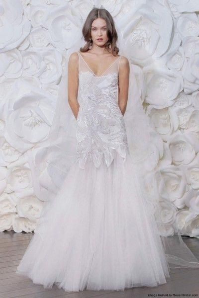 Mariage - Naeem Khan Fall 2015 Fit-and-flare Wedding Dress With A V-neckline
