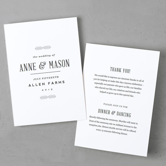 Wedding - Printable Wedding Program Template