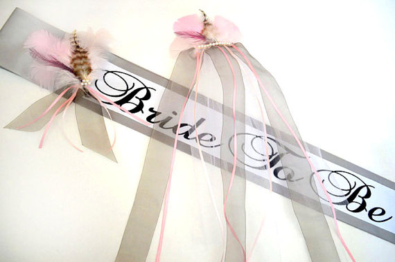 "Wedding - Bachelorette Sash and Veil Set ""Jasmine"", Bride To Be Sash Set, Bridal Sash, Bridal Sashes, Future Mrs Sash and Veil Set, Bridal Shower Sash"