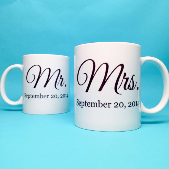 Mariage - Unique Wedding Gift Idea - Bridal Shower Gift - Mr and Mrs Coffee Mug - Unique Bridal Shower Gift - Wedding Gift Idea - Ceramic Coffee Mug