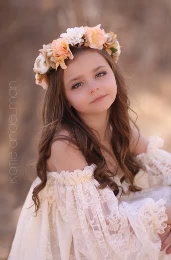 Marianne style Floral Crown   Floral Halo   Floral Wreath   Bridesmaid   Flower  Girl   Floral headband   Wedding - Ready To Ship 4807483bae2