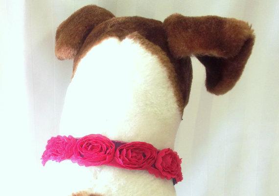 Свадьба - Dog Collar, Shabby Chic Dog, Wedding Dog, Decorative Pet Accessory, Pet Jewelry, Pooch Accessory, Pedigree Pucci