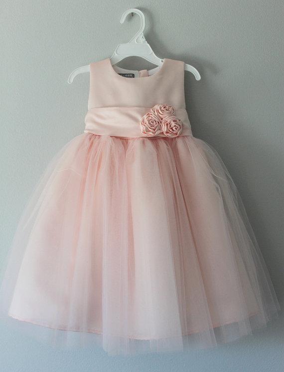 زفاف - The Gracie Dress: Handmade flower girl dress, tulle dress, wedding dress, communion dress, bridesmaid dress, tutu dress