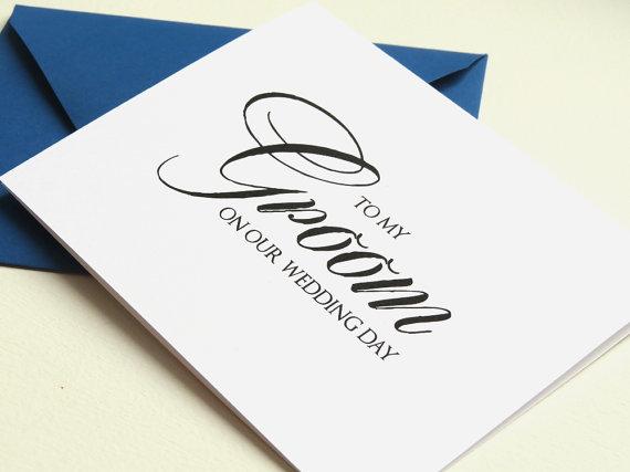 زفاف - Custom Color Wedding Day Card for Your Groom, Fiance, Husband - To My Groom On Our Wedding Day