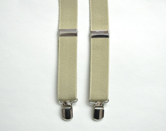 Mariage - Beige Suspender. Khaki Suspender. Mens Suspender. Groomsmen Suspenders. Wedding Suspenders. Groomsmen. Wedding. Suspender. Mens Belt.