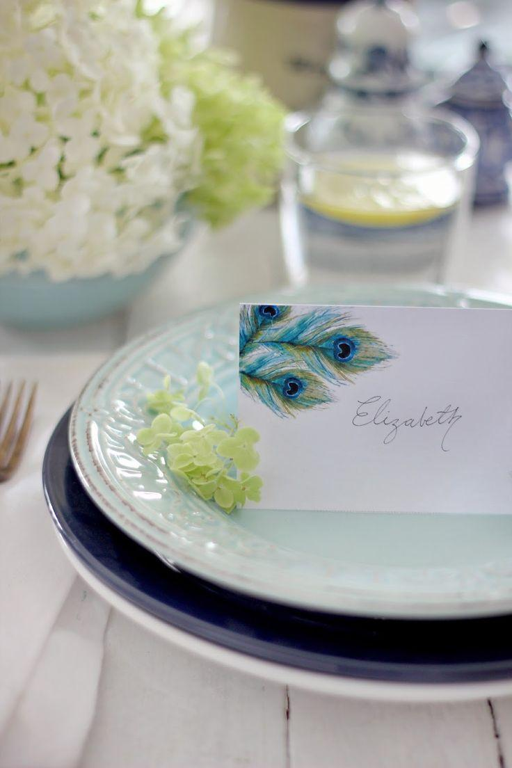 Mariage - Craftberry Bush: Free Watercolor Place Card