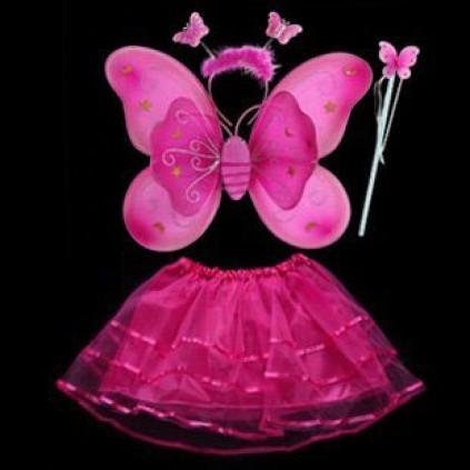 Hochzeit - Beautiful Hot Pink Butterfly Wings and Wand for Baby Girls