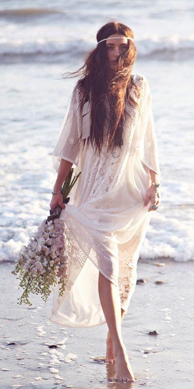 Vestidos de novia hippies chic