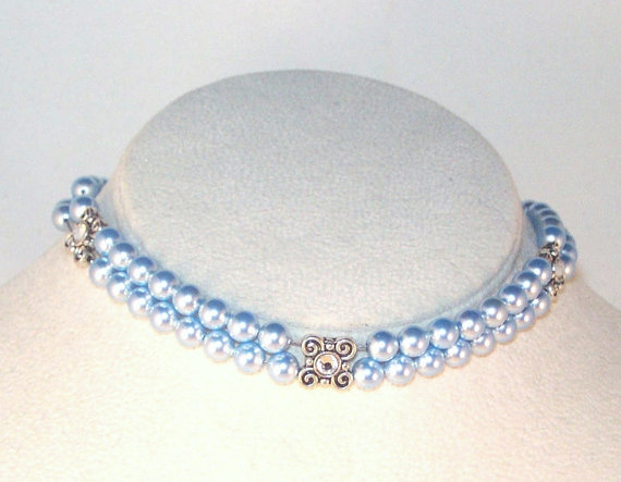 Свадьба - Swarovski Pearl Jewelry - Bridal Necklace - Bride, Bridesmaid, Maid of Honor Necklace - Made to Order - Any Color