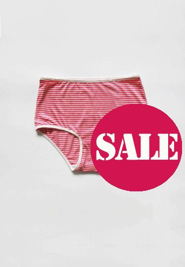 Mariage - Striped panties. Pink And White colors. High style panties.