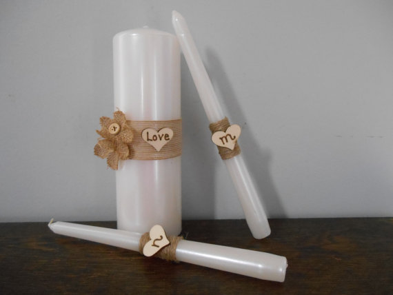personalized wedding candle flowers