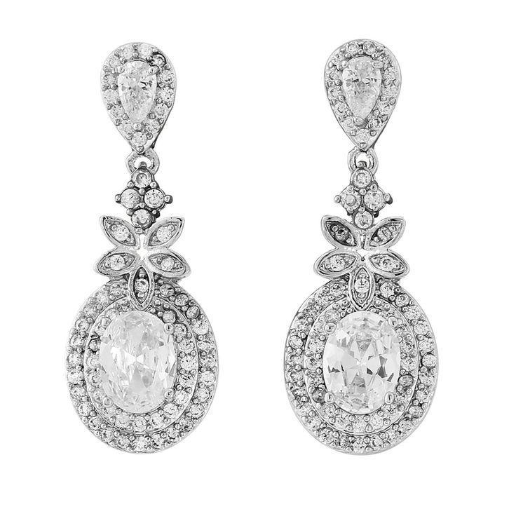 Свадьба - Luxe Crystal Drop Earrings - ER320 (awj)