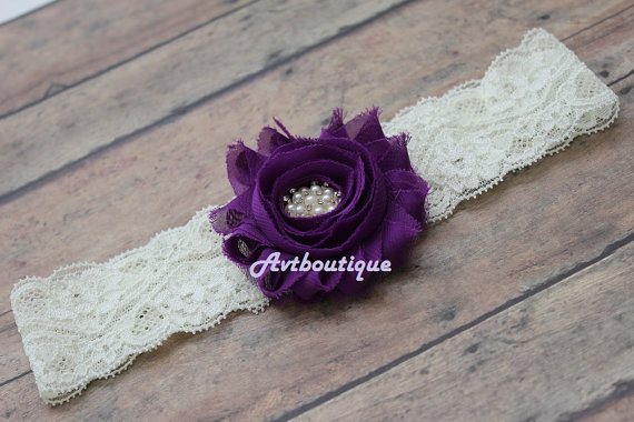 Wedding - Purple garter - bride toss garter -gift -  lace garter - garter - wedding garter - plus size garter - gift wedding - bridal garter purple