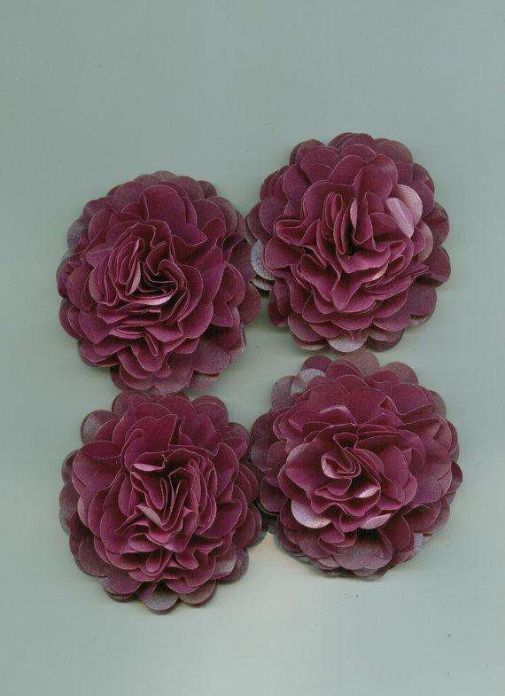 زفاف - Grape Purple Carnation Paper Flowers for Weddings, Bouquets, Events and Crafts 2014 wedding color