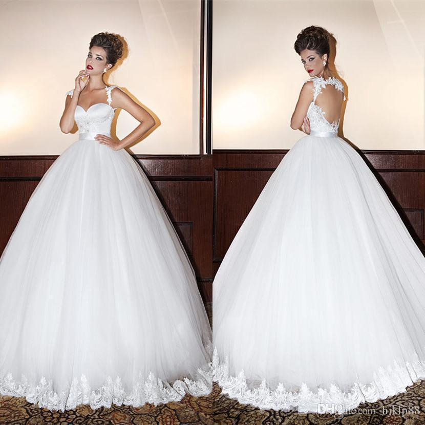 Dimitrius dalia 2015 sweetheart backless princess gown for Backless wedding dress bra