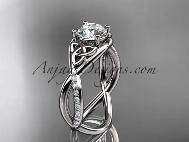 Mariage - platinum celtic trinity knot engagement ring, wedding ring CT790