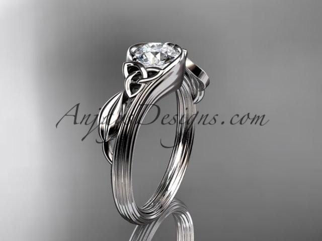 Wedding - platinum diamond celtic trinity knot wedding ring, engagement ring CT7324