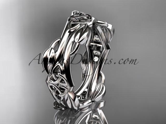 Wedding - platinum diamond celtic trinity knot wedding band, engagement ring CT7354G