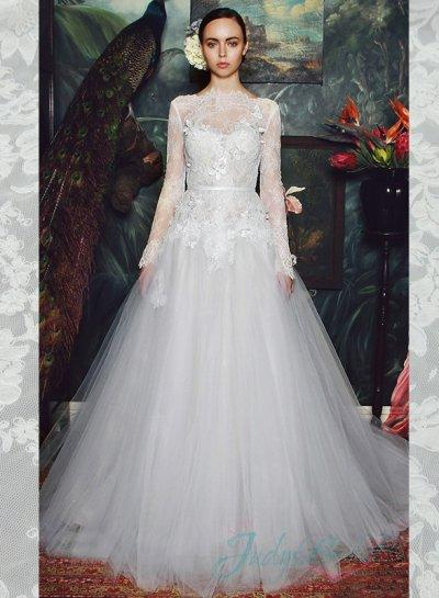 Illusion Lace Bateau Neck Long Sleeves Tulle Ball Gown Wedding Dress 2350870 Weddbook,Country Wedding Dresses For Mother Of The Groom