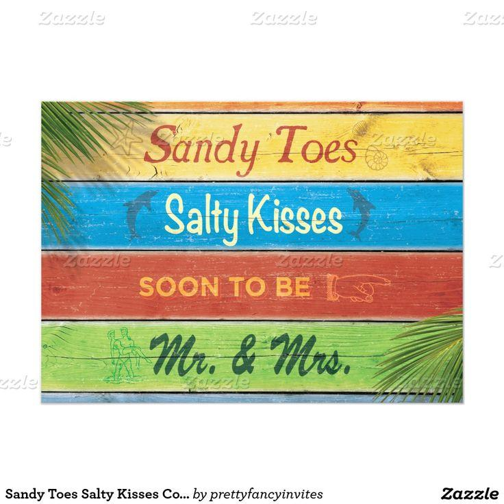 Mariage - Sandy Toes Salty Kisses Couple's Shower Invitation