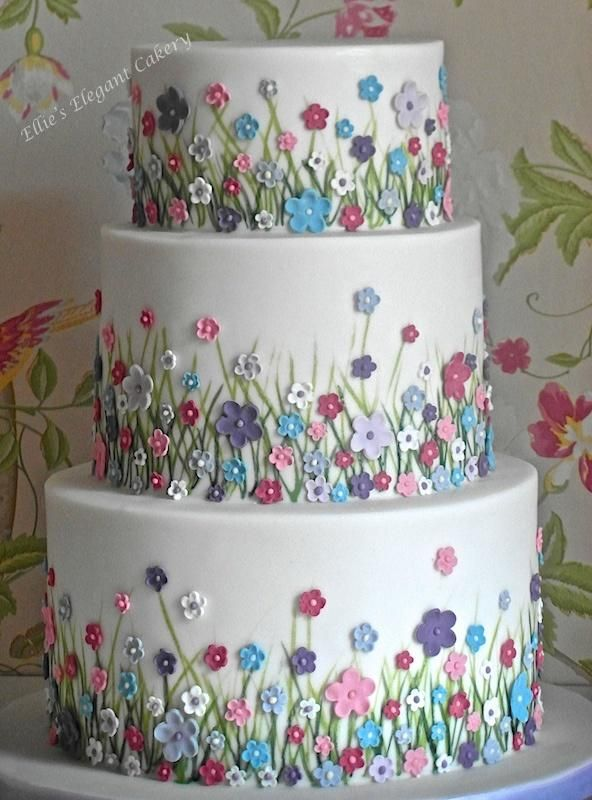 Summer Meadow Wedding Cake