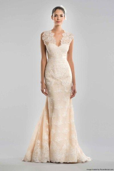 زفاف - Carolina Herrera Fall 2015 Blush Lace Marmaid Wedding Dress