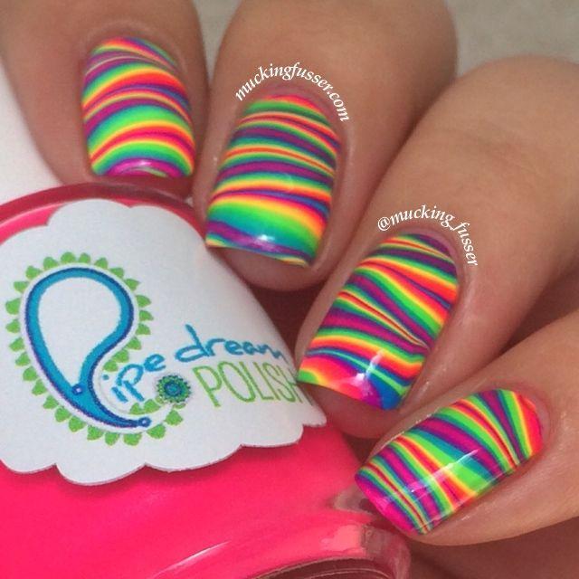Hochzeit - TUTORIAL: Rainbow Water Marbled Lightning Bolts