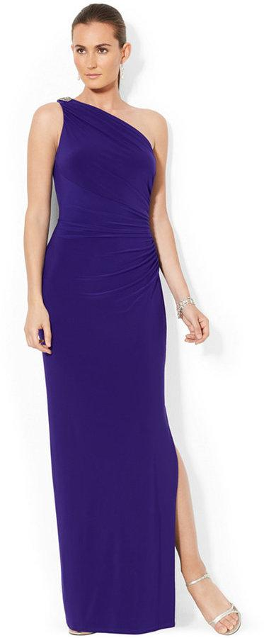 fa826c122cbb Lauren Ralph Lauren One-Shoulder Evening Gown #2350974 - Weddbook