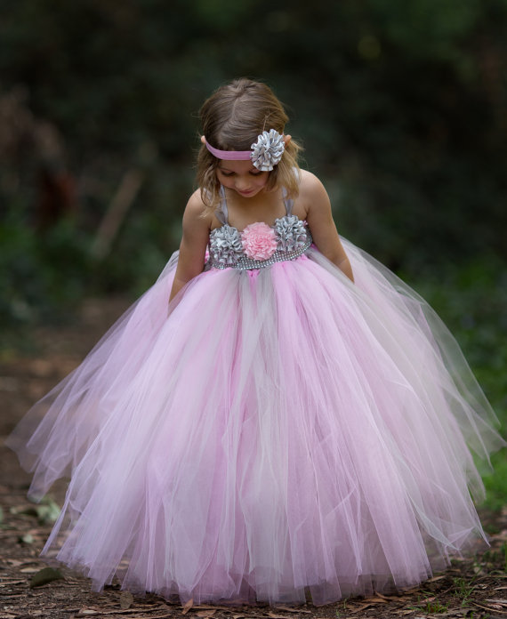 Pink and silver gray flower girl tutu dress rhinestone tutu dress pink and silver gray flower girl tutu dress rhinestone tutu dress flower girl tutu dress silver flower girl dress mightylinksfo