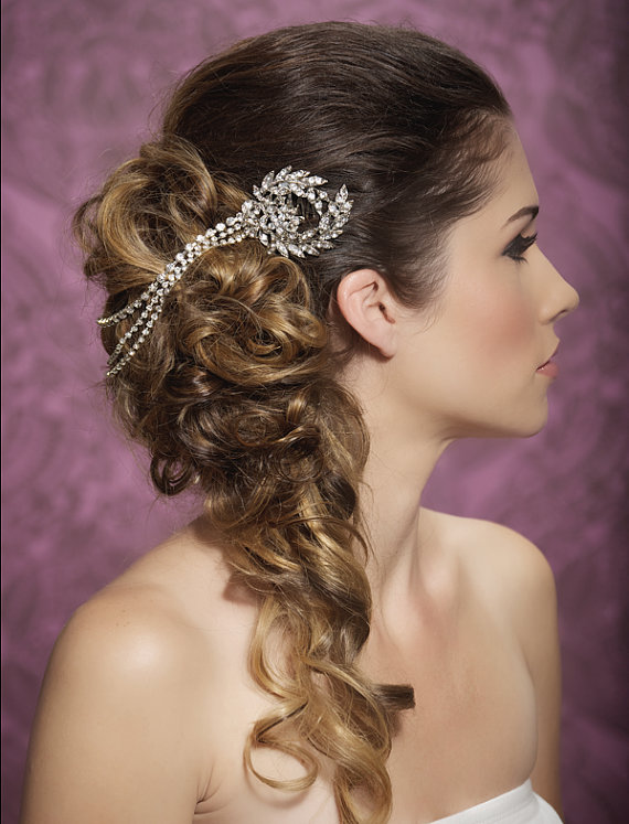 Wedding hair piece chain headband forehead piece for Where to buy wedding accessories
