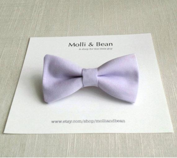 Свадьба - The Wyatt - Baby, Newborrn, Toddler, Kids, Boys bow tie, Wedding bowtie, Ring bearer bowtie, Mens bow tie, Lavender bow tie, Easter bow tie
