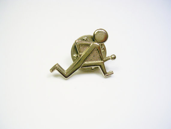 Свадьба - Tie Tack / Tie Pin / Running Man / silver color / clutch back / Formal Wear / Men Wedding Jewelry / Tie Accessory / Tie Tac / Groom Best Man