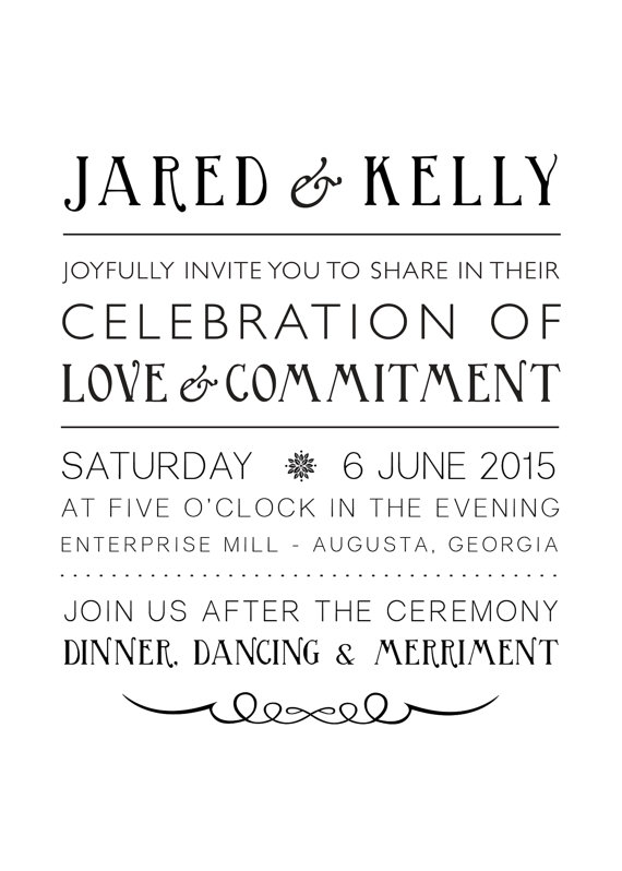 زفاف - Rustic elegance center justified Photoshop template wedding invitation, barn wedding, woodland wedding