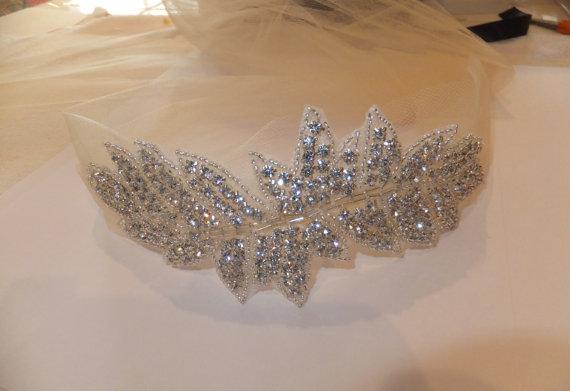Mariage - Wedding Headpiece, BONNIE, Bridal Headpiece, Rhinestone Leaf Headband, Crystal Headpiece,