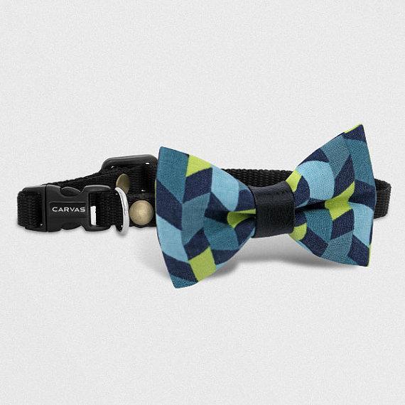 Свадьба - Geometric Cat Bow Tie Collar