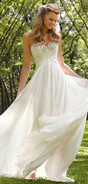 Свадьба - New White/ivory Wedding Dress Bride Gown Size Custom 6 8 10 12 14 16 18