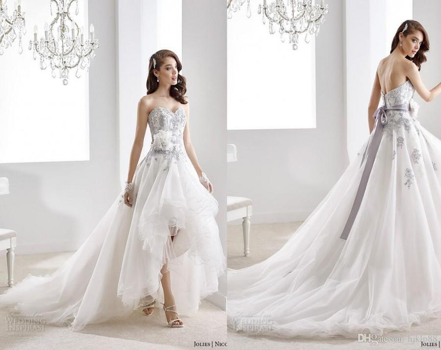 New Arrival High Low Short Front Long Back Jolles Nicole Wedding Dresses Laye