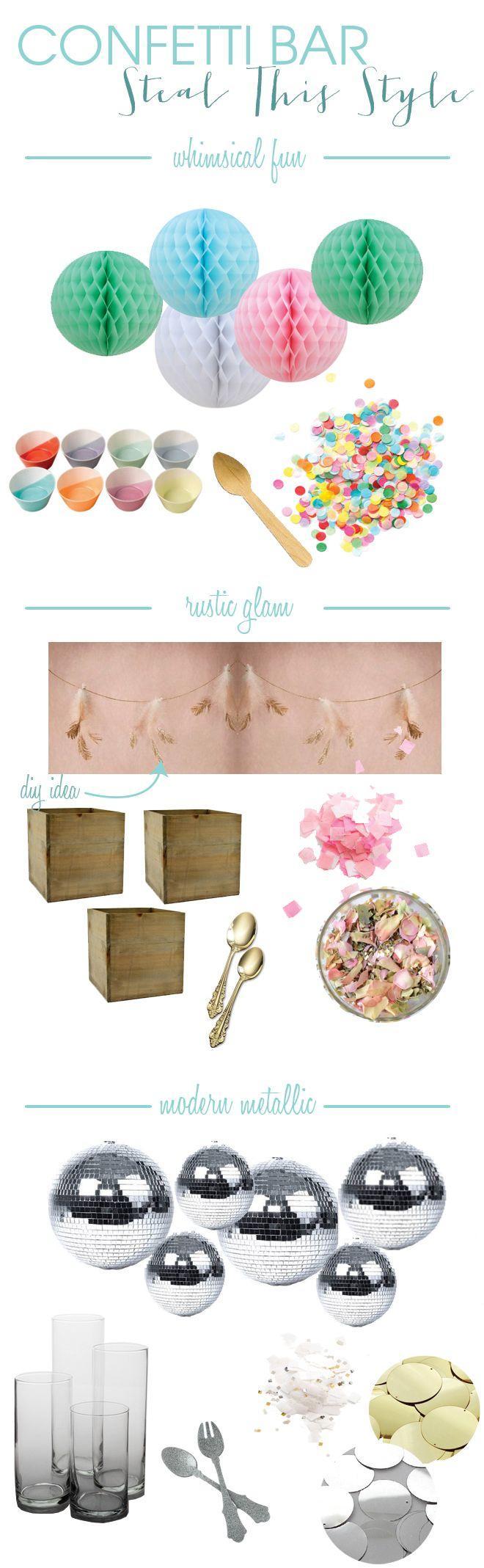 Свадьба - Learn How You Can Create A Wedding Confetti Bar!
