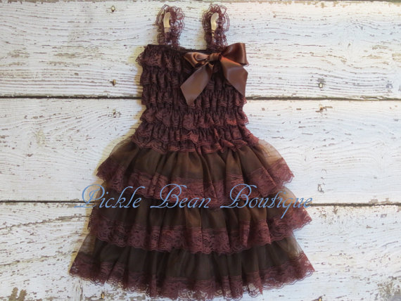 Brown lace dresses for wedding