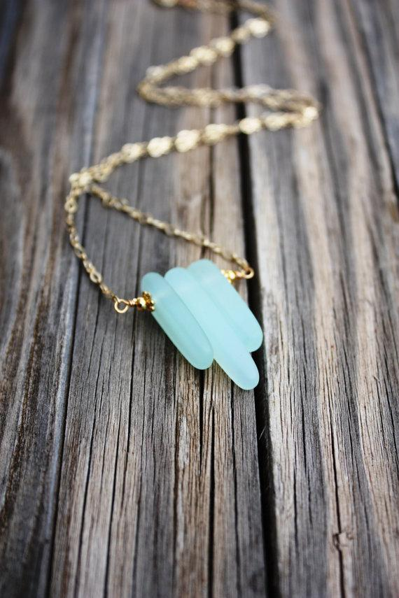 Свадьба - Sea Glass Necklace Seaglass Necklace, Sea Glass Jewelry Beach Jewelry Seaglass Jewelry Beach Glass Necklace Beach Glass Jewelry Delicate 006
