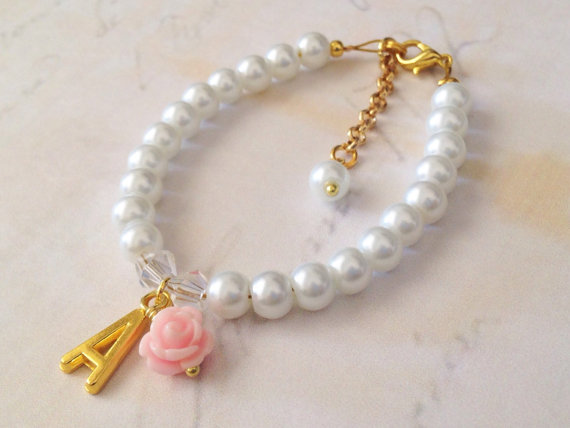 Childrens Personalized Bracelet Flower Girl Bracelet Flower Girl