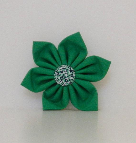 زفاف - Green Purple Abstract Dot Dog Collar Flower Wedding Accessories Spring Easter Summer Collar Made to Order