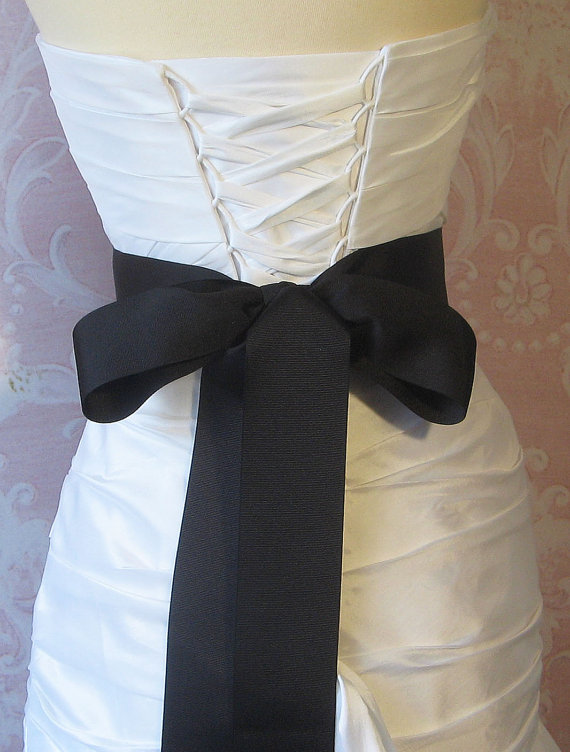 f238ffc71bdf Black Grosgrain Ribbon, 2.25 Inch Wde, Ribbon Sash, Bridal Sash, Wedding  Belt, 4 Yards