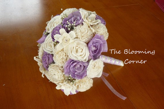 Mariage - Wedding Bouquet, Sola wood Bouquet, Sola Lavender Bouquet, Alternative Bouquet, Sola flowers, Wood Boquet