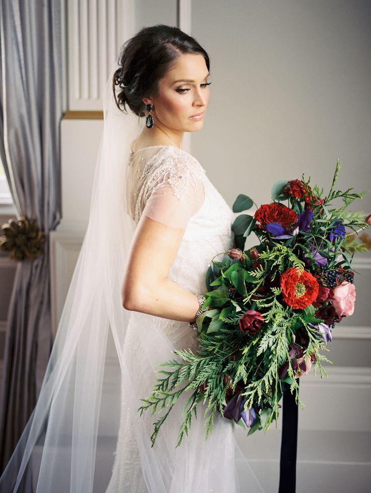 Свадьба - Jewel Tone Wedding Inspiration At The Old Schoolhouse