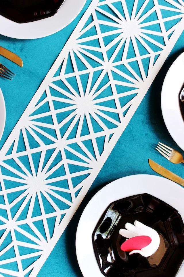 زفاف - DIY Midcentury Modern Table Runner