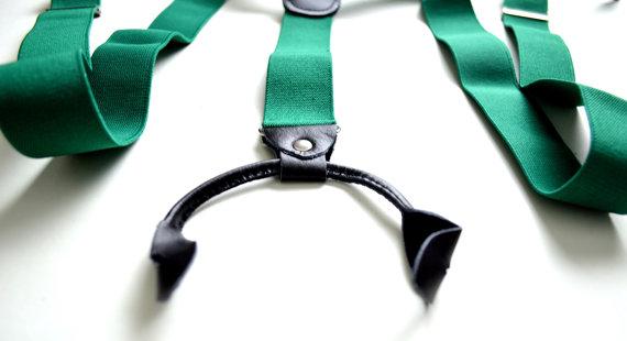 Wedding Suspender Button Suspender Emerald Button Suspender