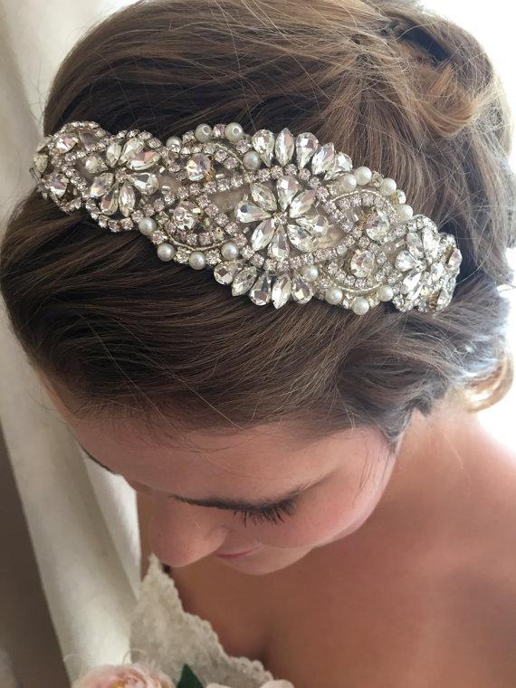 Wedding - Bridal Headband - Wedding Headband - Bridal Headpiece- Bridal Hairpiece - Simply Beautiful